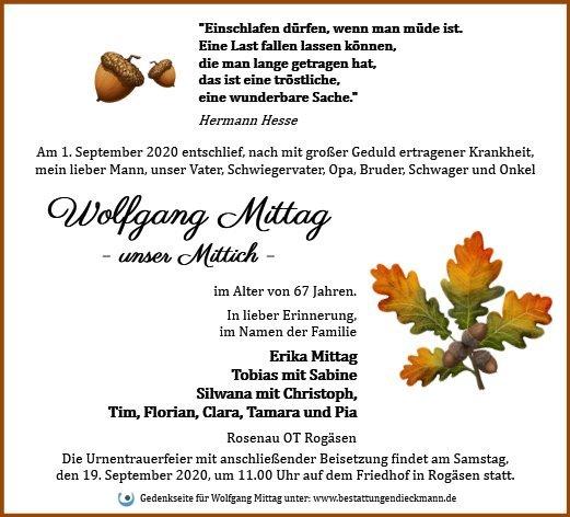 Profilbild von Wolfgang Mittag